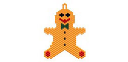 Ginger Bread Man Earring