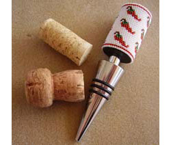 Chili Peppers Wine Stopper Cover