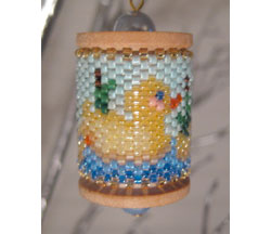 Duck Pond Spool Ornament
