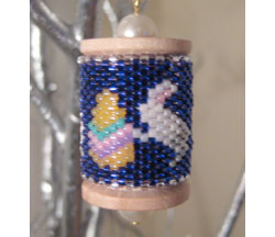 Bunnies Spool Ornament