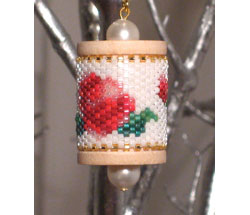Roses Spool Ornament