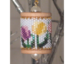 Tulips Spool Ornament