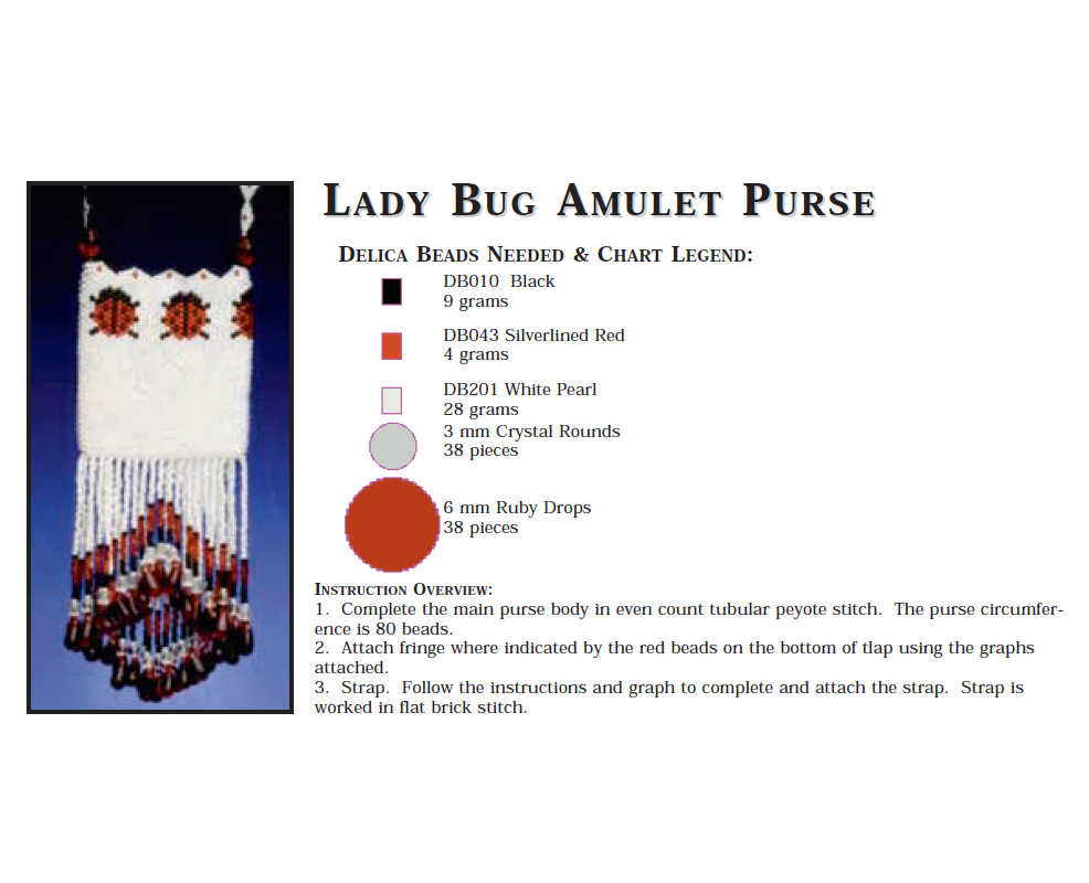 Lady Bug Amulet Purse