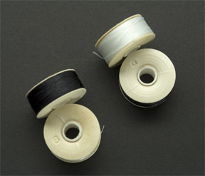 Nymo Thread, Bobbin size B, White