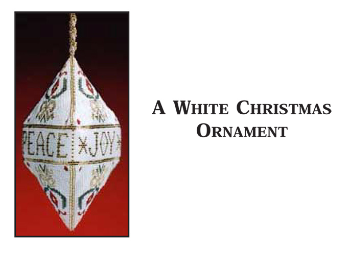 A White Christmas Ornament - Peace, Joy, Noel
