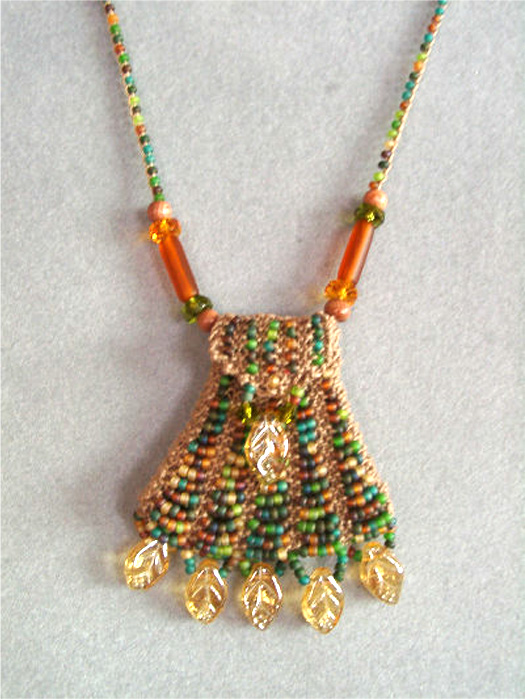 Bead Knitted Amulet
