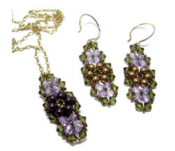 Garden Earrings & Pendant