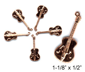 Guitar Charms, Copper (10 per Package)