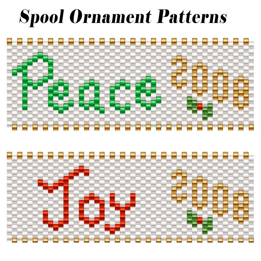 Peace & Joy Spool Ornaments