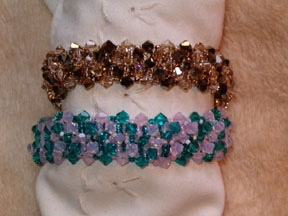 Not your ordinary double crystal RAW bracelet