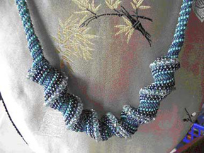 Peyote Spiral Necklace