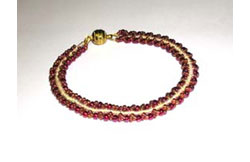 Cranberries and Cream Bracelet