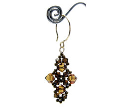 Crystal Squares Earrings