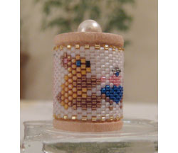 Teddy Bear Tea Spool Ornament