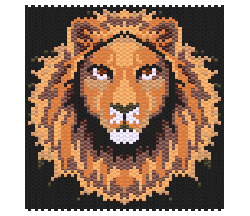 Lion (Non Shiney Beads)