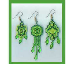 Green Earring Set