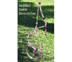Beaded Spiral Suncatcher and Mobile