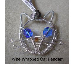 Jewelie the Cat Wire Pendant