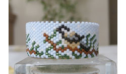 Chickadee Tea Light Cover