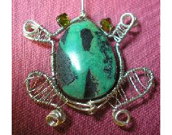 Wire Wrapped Frog Pendant