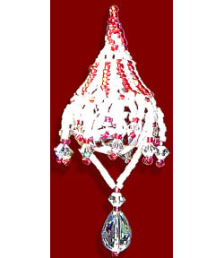 LEFTY VERSION Candy Stripe Crystal Cover Ornament