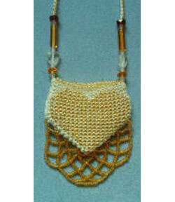 Golden Heart Pouch