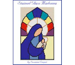 STAINED GLASS MADONNA Mini-Tapestry