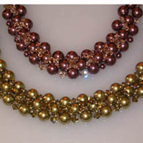 Beautiful Crystal and Pearl Necklace