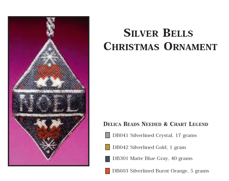 Silver Bells Christmas Ornament - Peace, Love, Noel