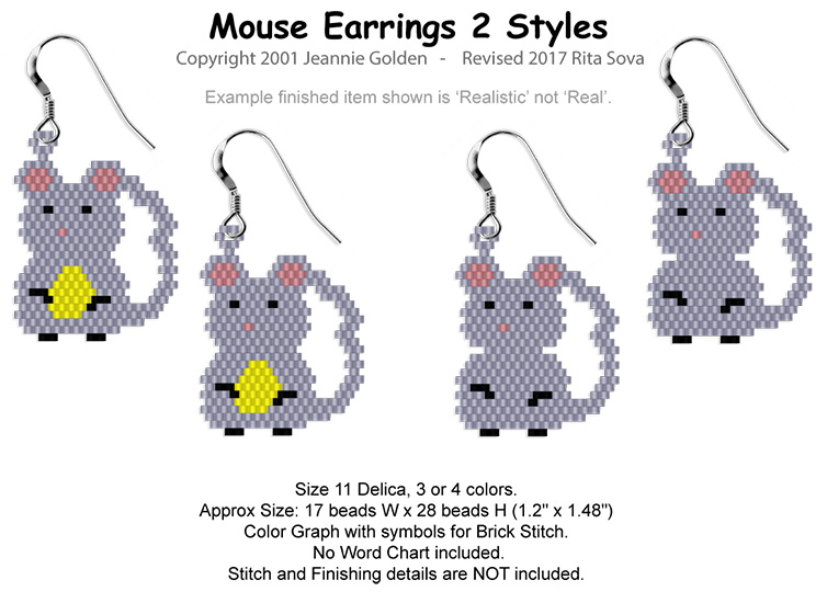 Mouse Earrings 2 Styles