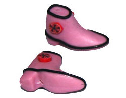 Fimo Shoe Bead/Charm, Pink (1 pair)