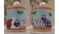 Christmas Mice Spool Ornament
