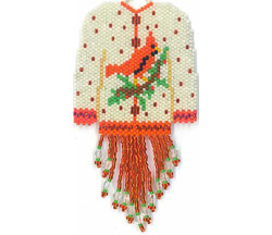 White Christmas Sweater Ornament