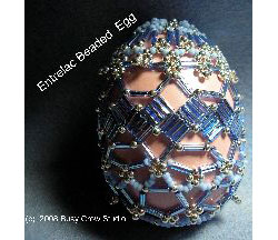 Bugle Entrelac Band Beaded Egg
