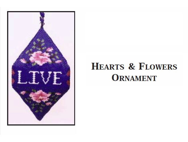 Hearts & Flowers Ornament - Live, Love, Laugh