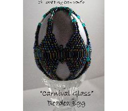 Carnival Glass Beaded Egg