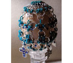 Chain Maille and Bead Egg