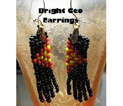 Bright Geo Earrings