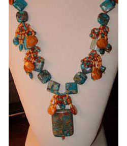 Cascading blue waters necklace