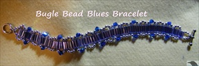 Bugle Bead Blues Bracelet