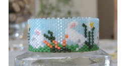 Bunnies & Daffodils Tea Light Cover