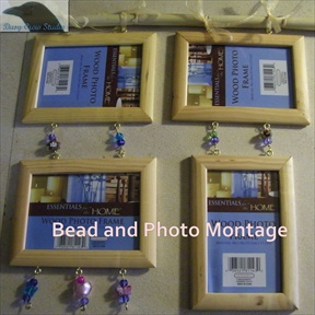 Bead and Photo Frame Montage