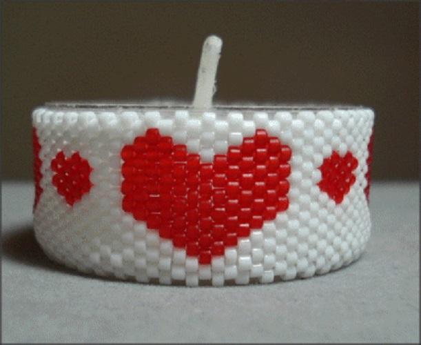 Heart & Heart Tea Light Cover