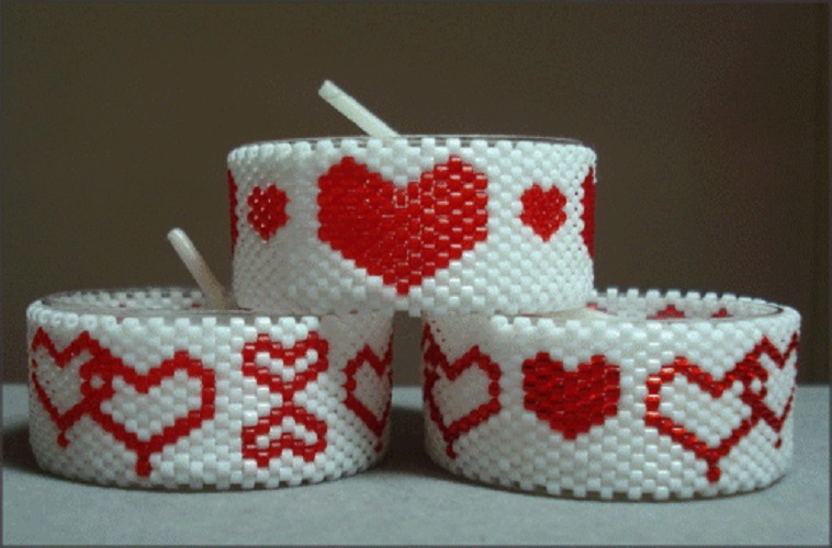 Hearts Galore Tea Light Cover Set