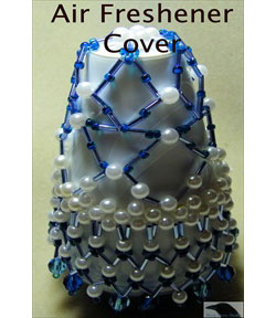 Beaded Air Freshener Cover