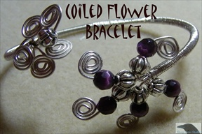 Coiled Flower Bracelet