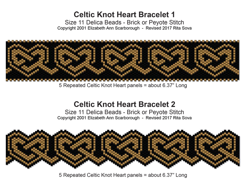 Celtic Knot Heart Bracelets 1 & 2