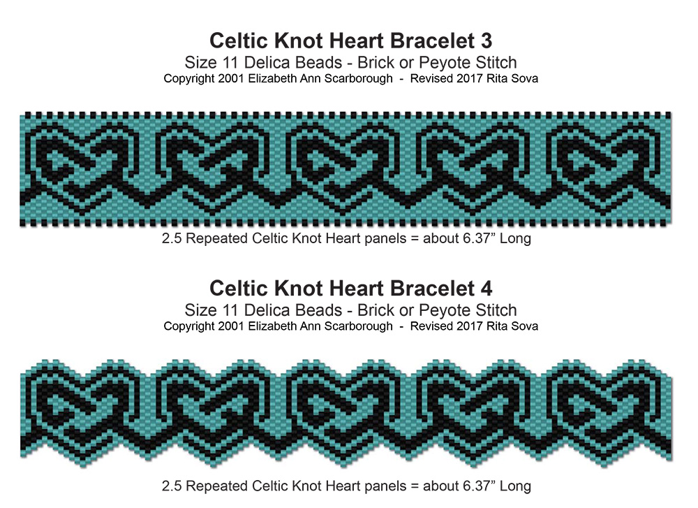 Celtic Knot Heart Bracelets 3 & 4