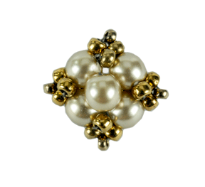 4mm Round Beaded Button