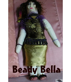 Beady Bella Cloth Doll